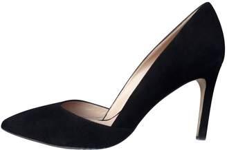 Diane von Furstenberg Black Suede Heels