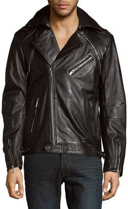 Karl Lagerfeld Full-Zip Moto Jacket