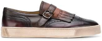 Santoni fringed sneakers