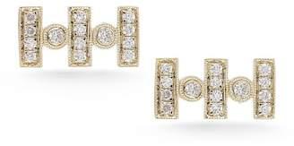 DANA REBECCA 14K Yellow Gold Diamond Reese Brooklyn Stud Earrings - 0.18 ctw