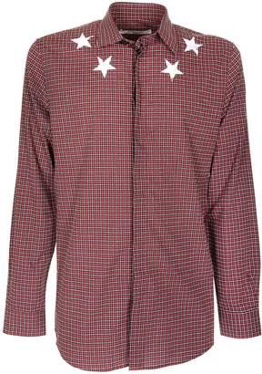 Givenchy Checkered Star Printed Shirt