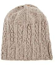 BEIGE Inis Meain Men's Cable-Knit Merino Wool-Cashmere Hat - Beige, Tan