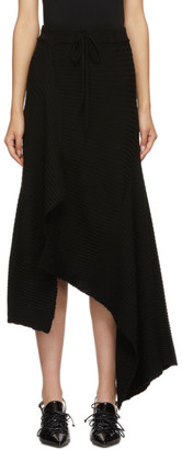 Marques Almeida Black Draped Skirt