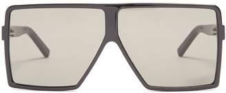 Saint Laurent Betty squared-aviator acetate sunglasses
