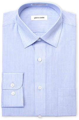 Pierre Cardin Blue Stripe Regular Fit Dress Shirt