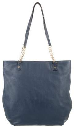 MICHAEL Michael Kors Leather Tote Navy Leather Tote