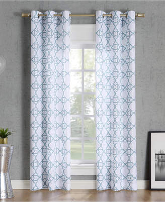 "Lichtenberg No. 918 Barkley Trellis Semi-Sheer Grommet Curtain Panel, 40"" W x 95"" L"
