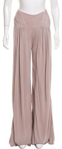 Ralph Lauren Collection High-Rise Wide-Leg Pants