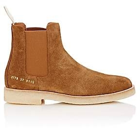 Common Projects Women's Suede Chelsea Boots-Lt. brown