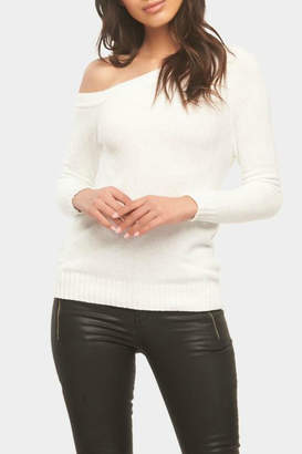Tart Collections One-Shoulder Chenille Sweater