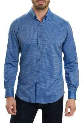 Robert Graham Diamond Pattern Casual Button-Down Shirt