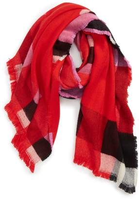 Leith Colorblock Plaid Scarf