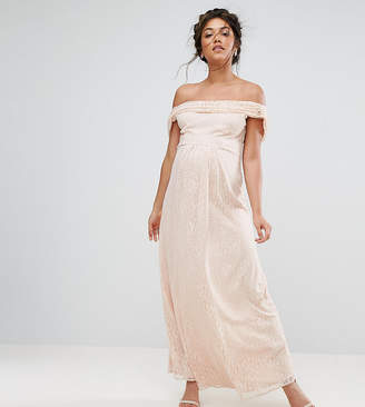 Queen Bee Lace Maxi Dress With Cowl Front And Back
