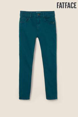 Fat Face Girls FatFace Green 5 Pocket Jeggings - Green