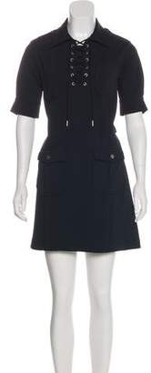 Marc by Marc Jacobs Lace-Up Shirt Dress