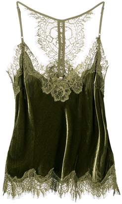 Gold Hawk lace-detail camisole top