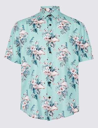 Marks and Spencer Cotton Rich Floral Printed Shirt