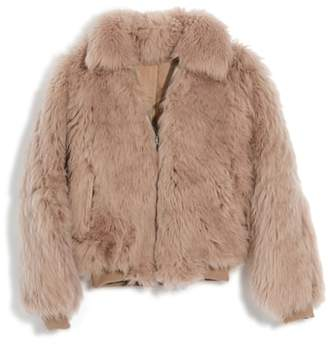 Madewell Genuine Shearling Mongolian Coat