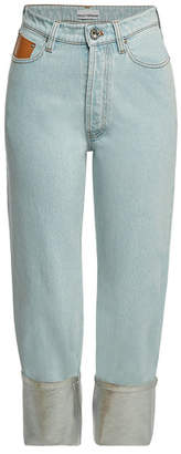 Paco Rabanne Cropped Jeans with Contrast Cuffs