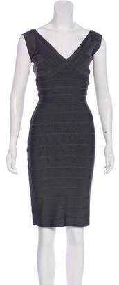 Herve Leger Sleeveless Knee-Length Dress