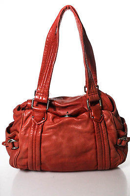 Marc By Marc Jacobs Marc By Marc Jacobs Red Leather Silver Accent Large Statchel Handbag