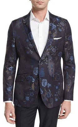 Etro Tapestry Paisley-Print Jacquard Evening Jacket, Navy $1,565 thestylecure.com