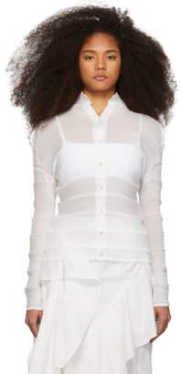 Issey Miyake White Stair Shirt