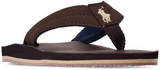 Polo Ralph Lauren (ポロ ラルフ ローレン) - Polo Ralph Lauren Little Boys' Leo Faux Leather Flip Flop Sandals from Finish Line