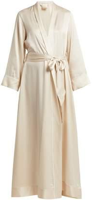 MORPHO + LUNA Jade silk robe