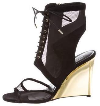 Diane von Furstenberg Mesh Lace-Up Sandals