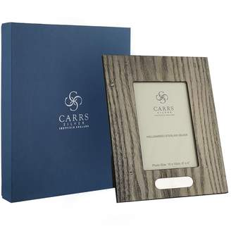 "Carrs of Sheffield Silver Zebra Wood Boardered Photo Frame (6""x4"")"
