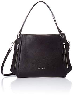 Calvin Klein Melanie Pebble Leather Slouchy Zip Face Hobo
