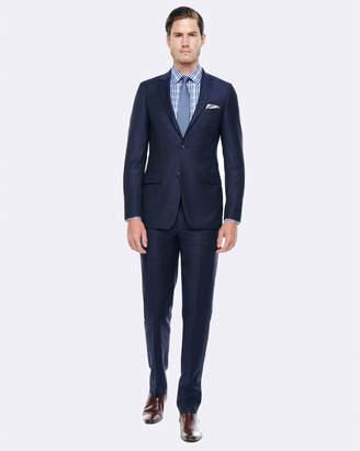Geoffrey Navy Slim Fit Wool Suit