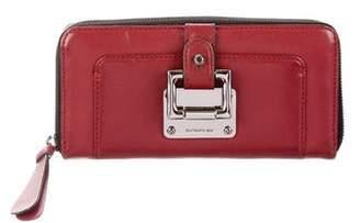 Barbara Bui Leather Zip-Around Wallet