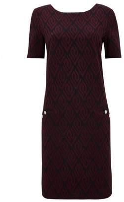 Wallis Berry Textured Shift Dress