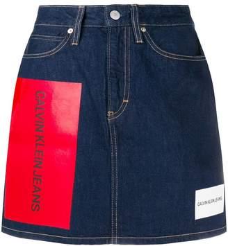 Calvin Klein Jeans multiple logo skirt