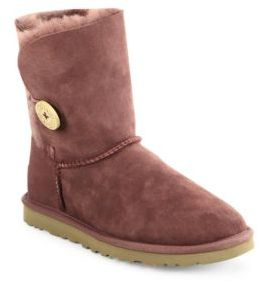 UGG Classic Bailey Short Button Boots $165 thestylecure.com