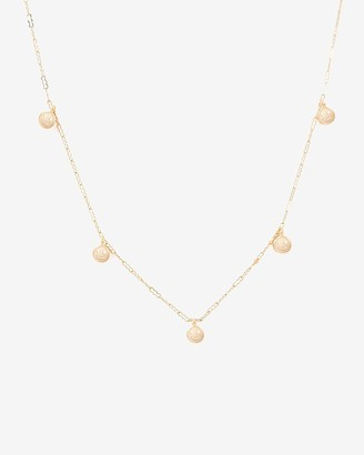 Express One Six Five Gold Super Smiley Necklace