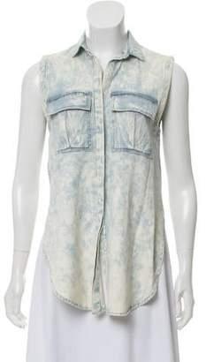 Helmut Lang Sleeveless Button-Up Top