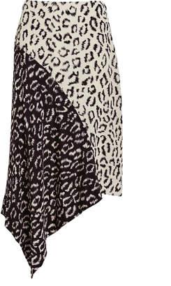 A.L.C. Natalie Two-Tone Leopard Skirt