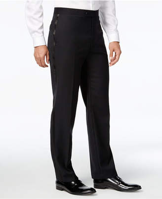 Calvin Klein Black Solid Big and Tall Modern Fit Tuxedo Pant