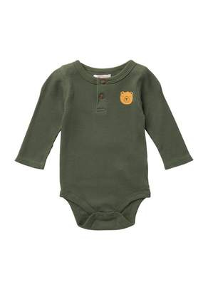 Joe Fresh Henley Waffle Bodysuit (Baby Boys)
