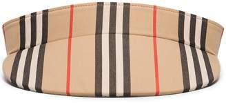 Burberry Icon Stripe visor hat