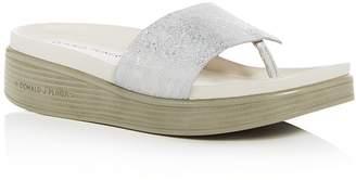 Donald J Pliner Women's Fifi Embossed Leather Platform Thong Sandals