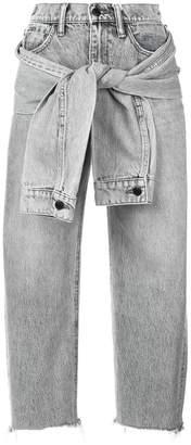 Alexander Wang sleeve tie jeans