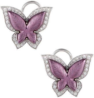 Diamond Select Cuts 18K 1.42 Ct. Tw. Diamond Butterfly Earrings