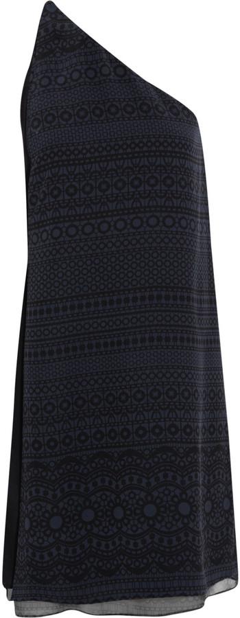 3.1 Phillip Lim Printed silk one-shoulder dress