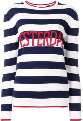 Alberta Ferretti Yesterday striped sweater