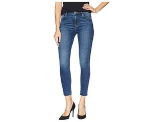Sanctuary Social High Rise Ankle Skinny Jeans in Arena Blue