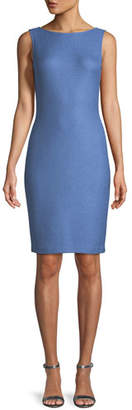 St. John Sarga Sleeveless Sheath Dress